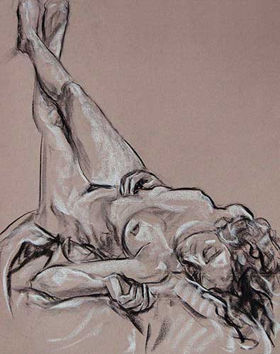 drawings in charcoal Ana F