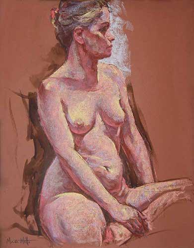 pastel painting Ava 2 F