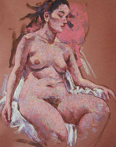 pastel painting Ella F