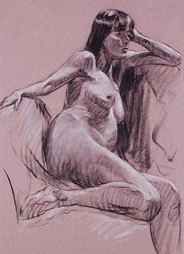 drawings in charcoal Gilda F