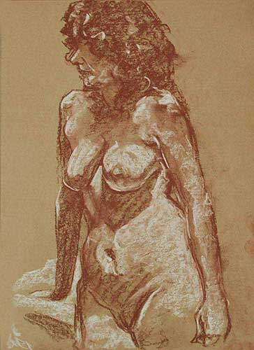 drawings in red chalk Gill F