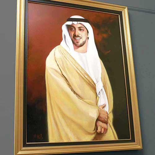 portraits in oil Sheiikh Mansour