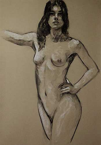 drawings in charcoal Leticia F