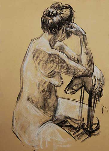 drawings in Charcoal Yellow F