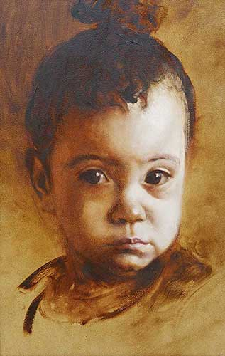 portraits in oil Aimee F