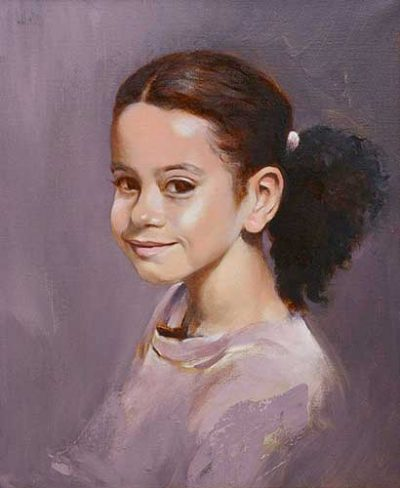 portraits in oil Aimee2 F