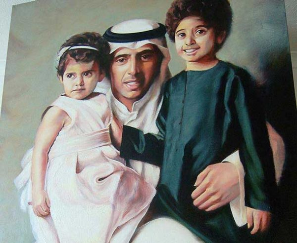 portraits in oil Family Group F