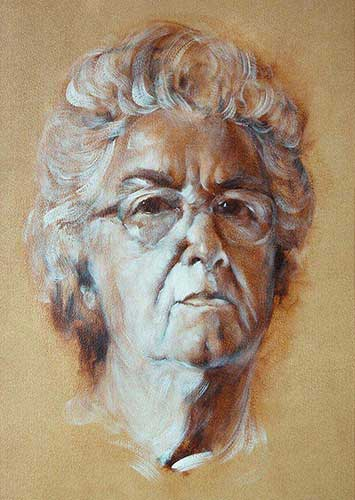 portraits in oil Iris F