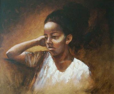 portraits in oil Karla F
