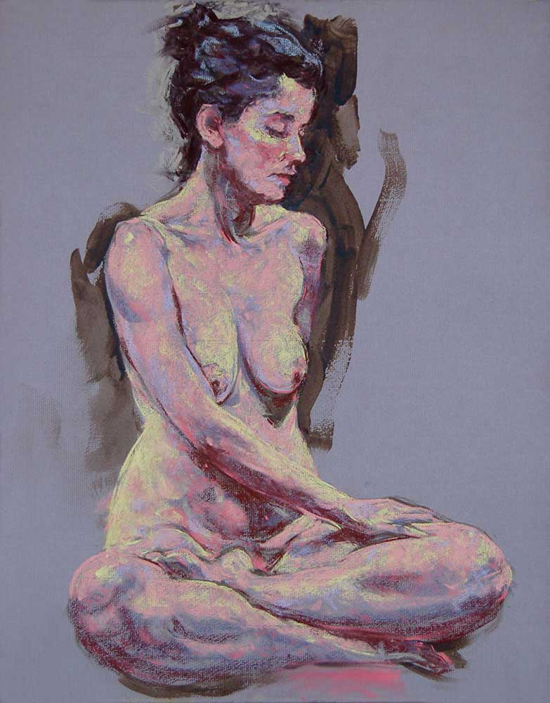 pastel painting Laura