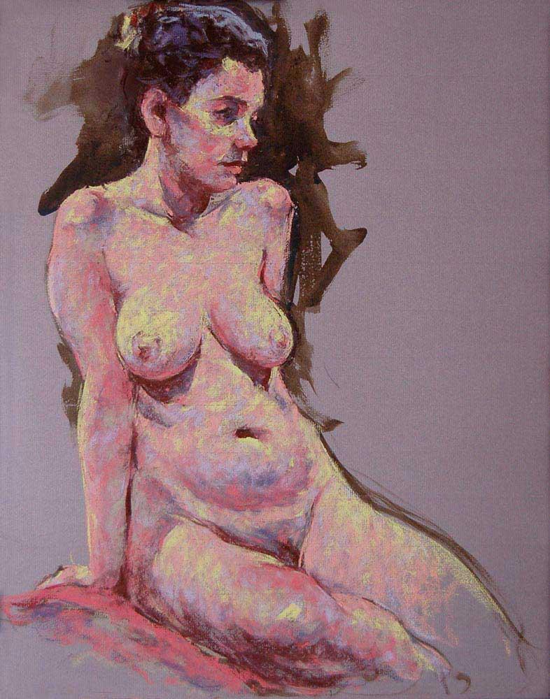 pastel painting Laura 2
