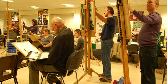 life drawing portrait painters London Kent