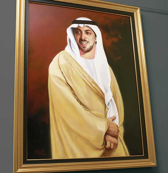 Sheikh Mansour portrait painters London Kent
