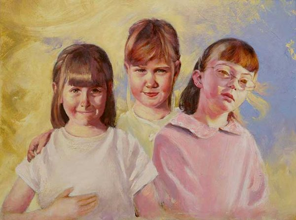 portraits in oil Girls F